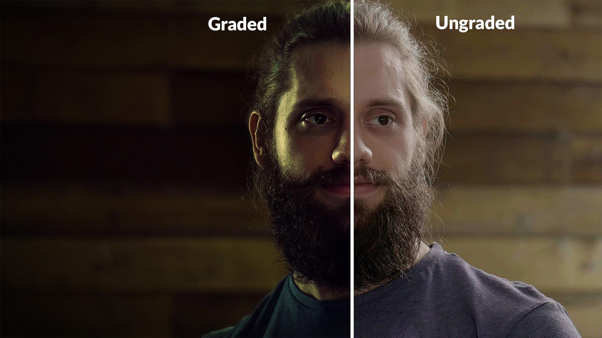 color grading before and after