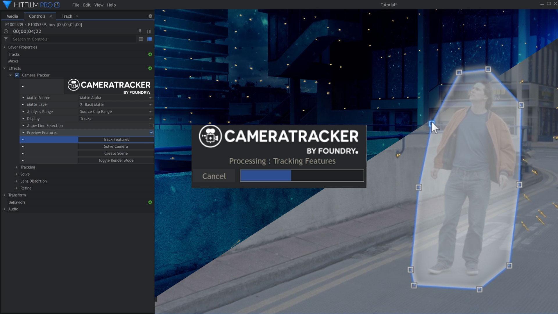 Foundry Camera Tracker in HitFilm