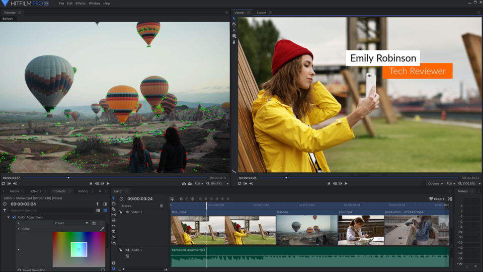 HitFilm Pro 15 - Image Stabilizer – professional video editing software