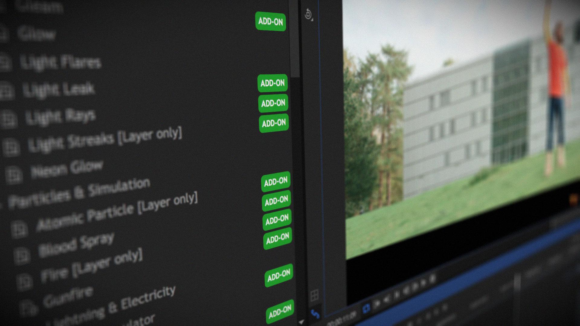 HitFilm 9.1 Interface