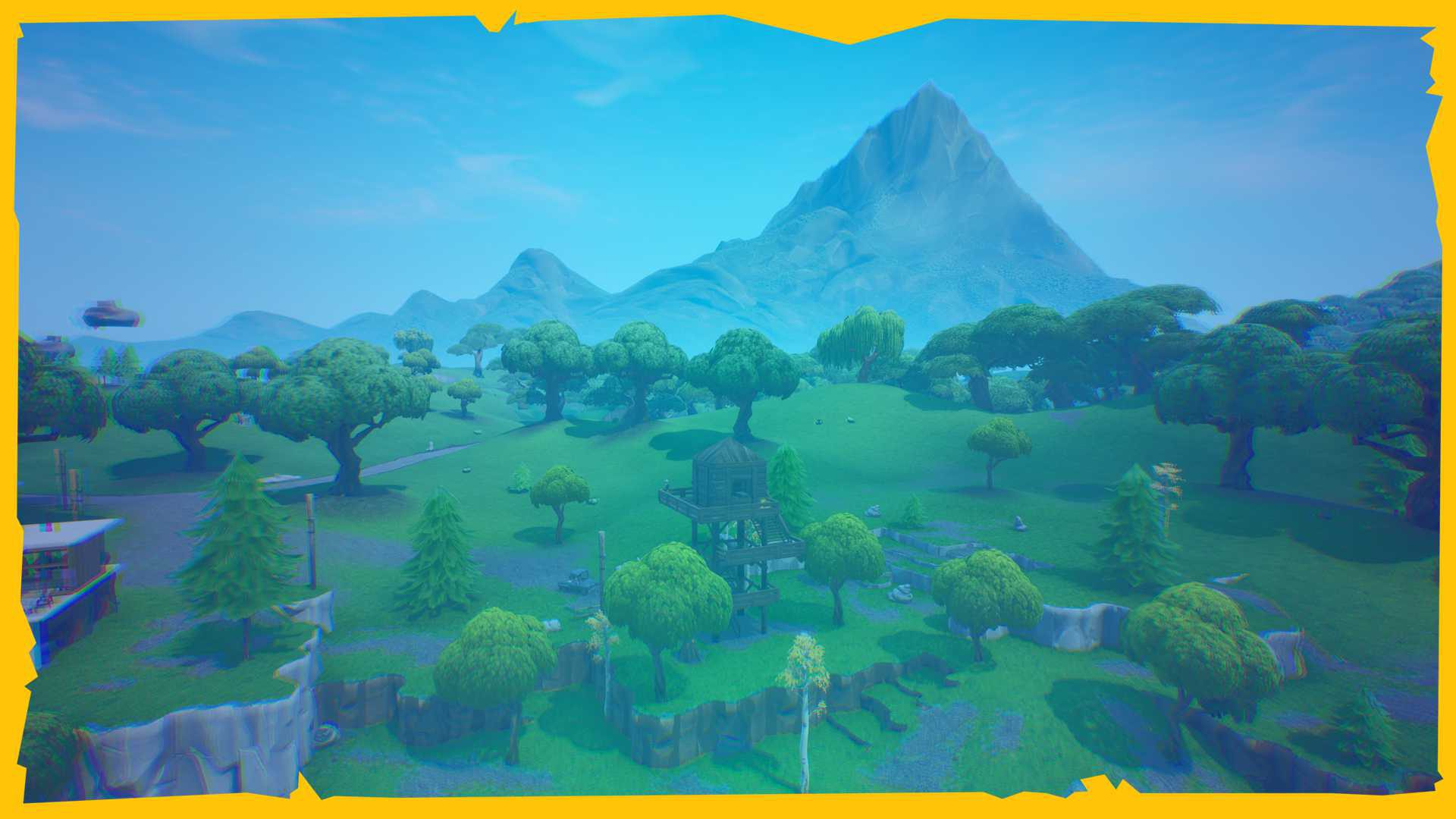 Fortnite map background in Game On gaming video masterclass