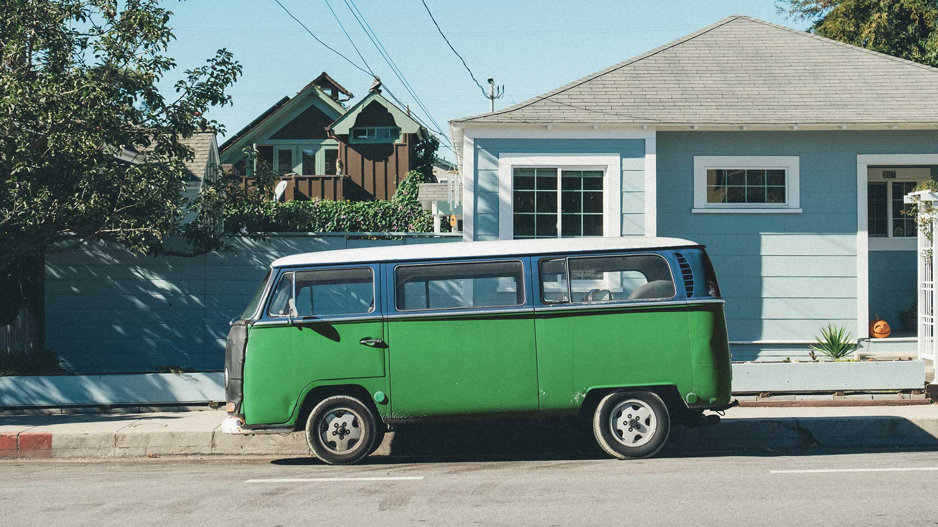 VW campervan green colorized with Imerge Pro color adjustment effect