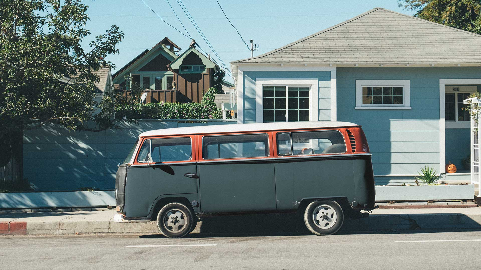 VW campervan black and orange colorized with Imerge Pro color adjustment effect