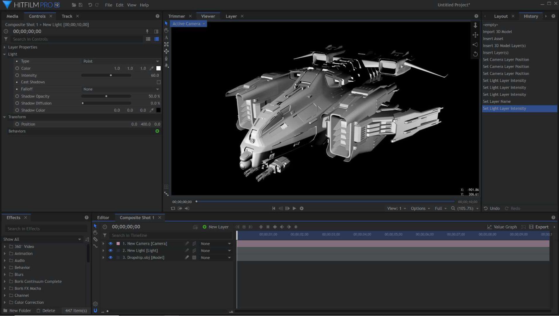 3D model in HitFilm Pro