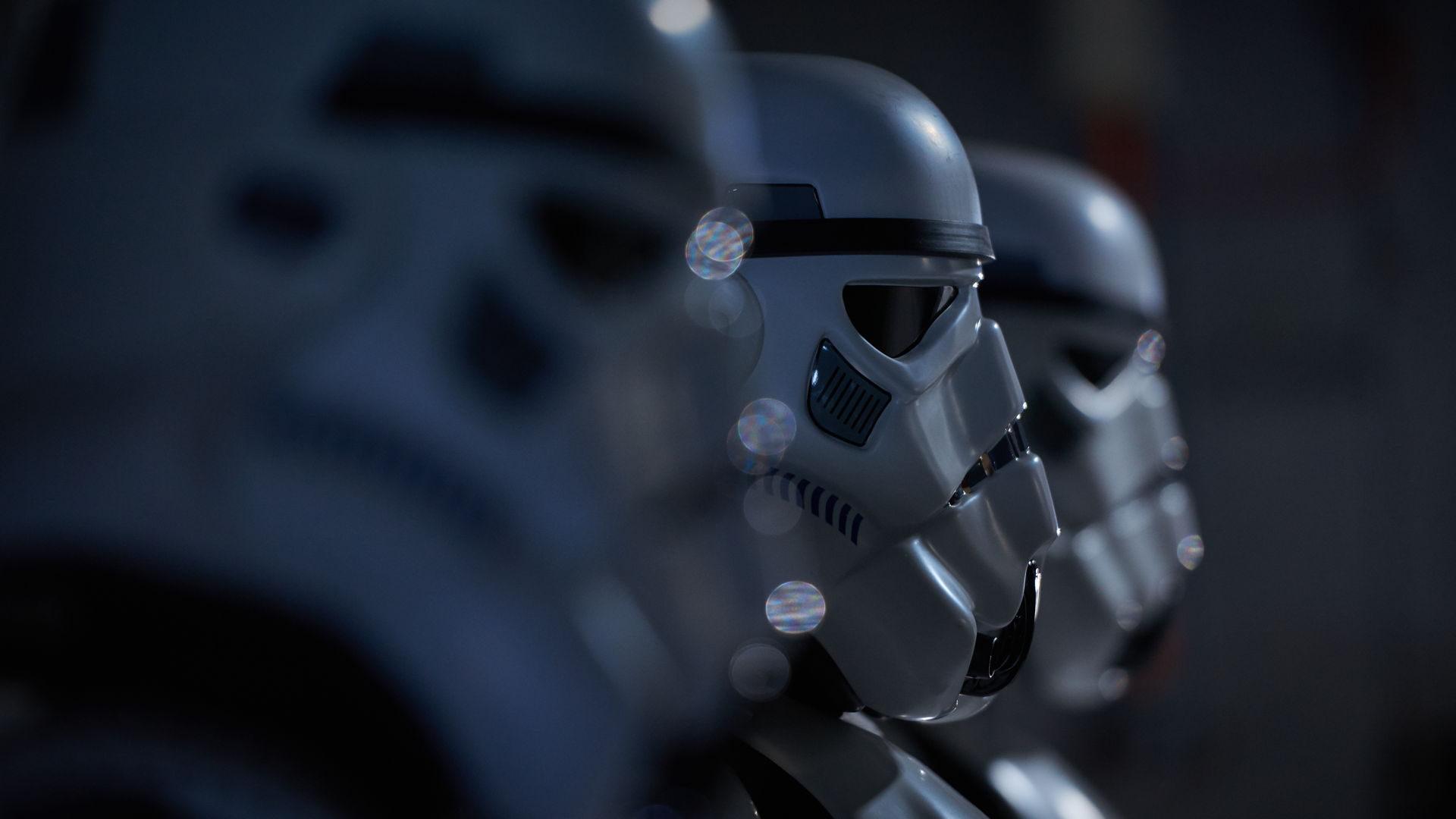 Storm troopers in a line depth of field - Star Wars Fan Film