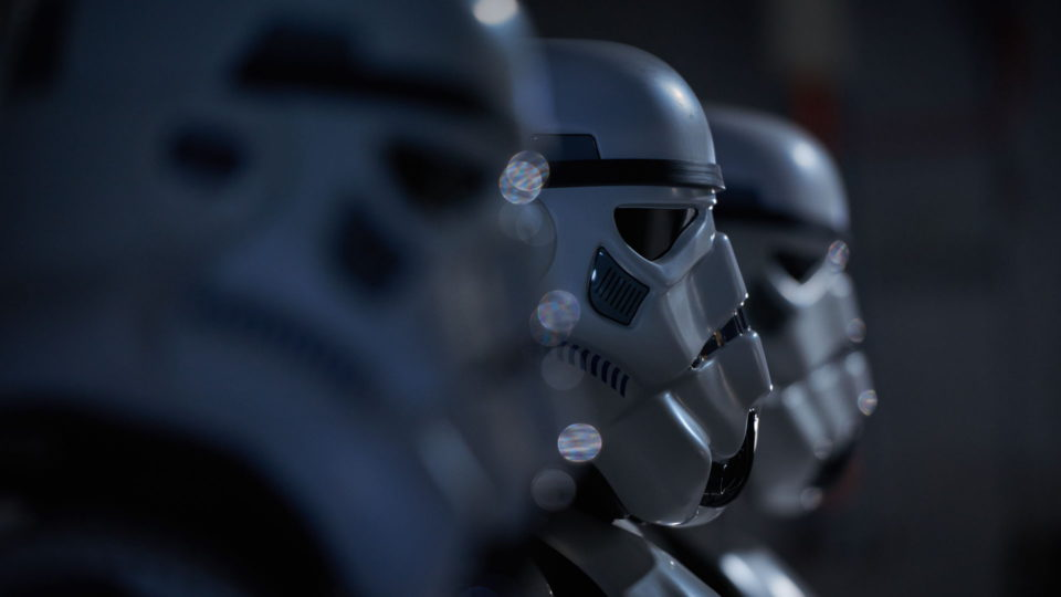 Storm troopers in a line depth of field - Star Wars Fan Film