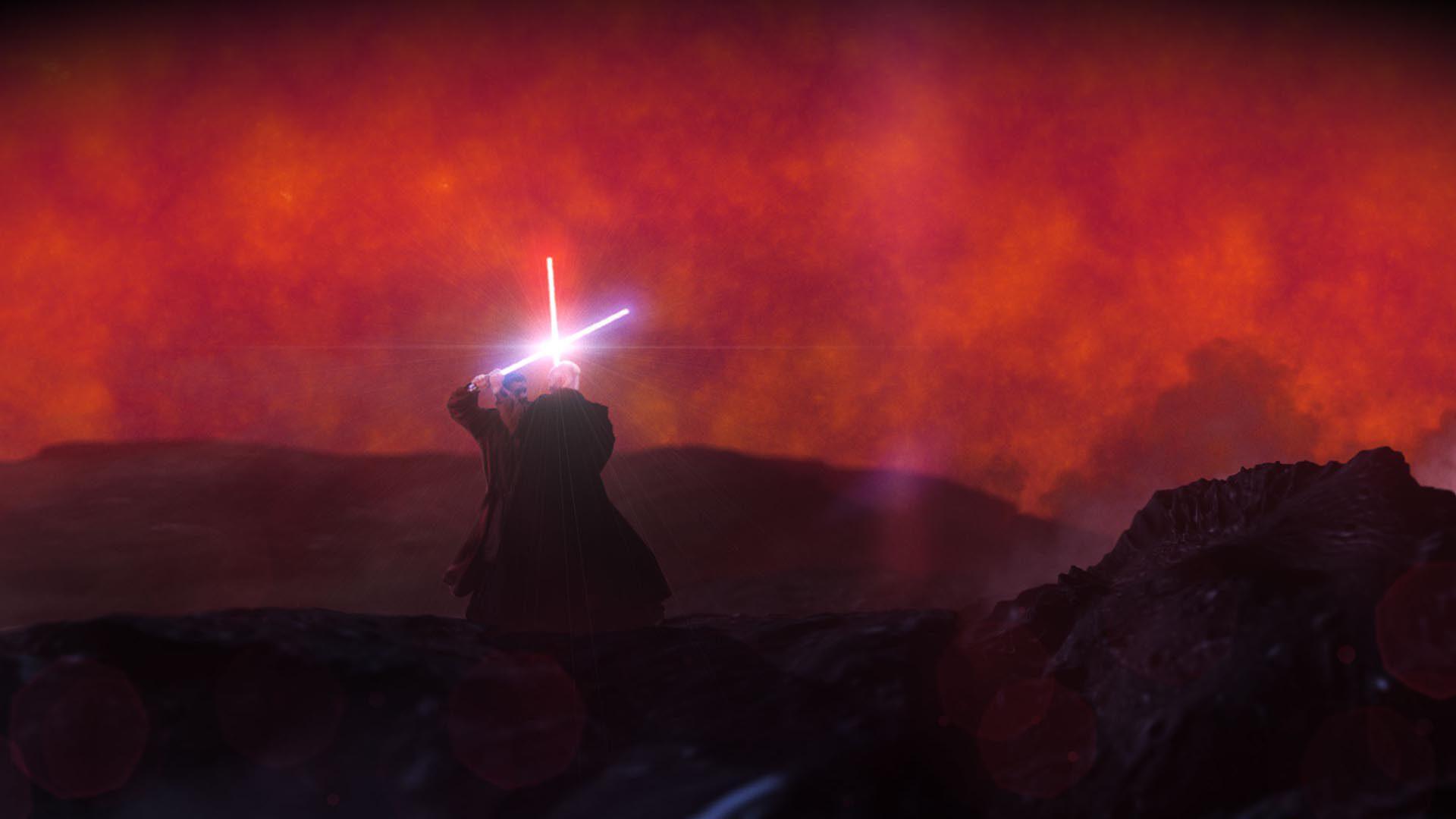 Revised framing - lightsaber battle