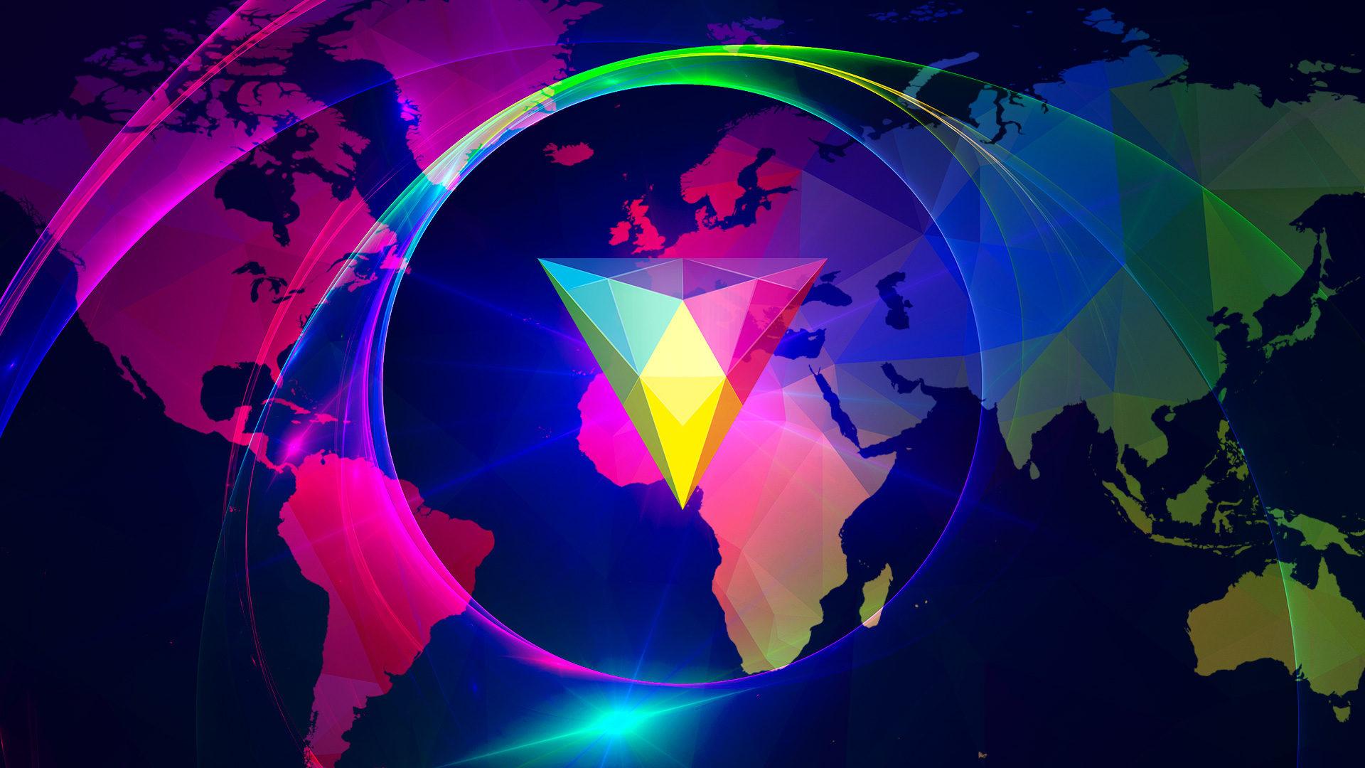 HitFilm legacy logo on world map