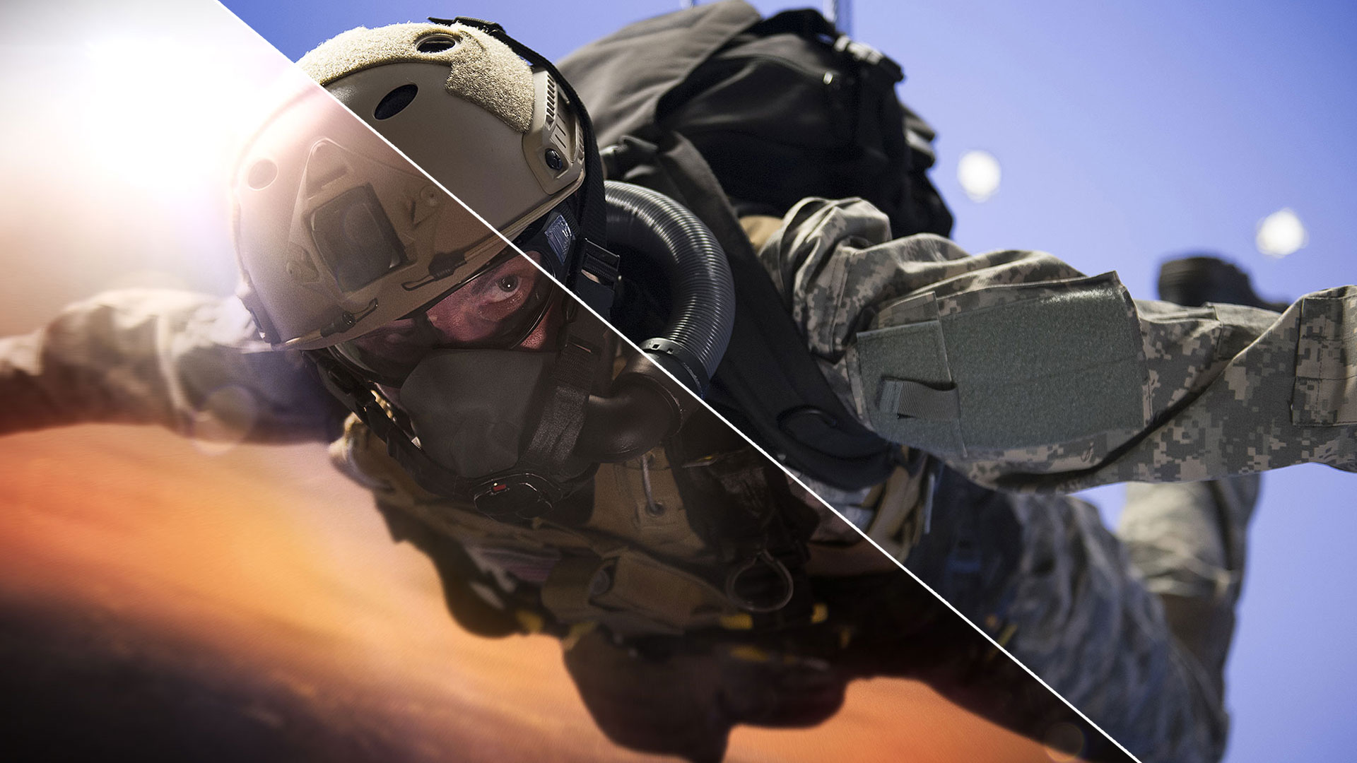 Blue screen chroma keying soldier sky dive Halo Jump VFX compositing masterclass