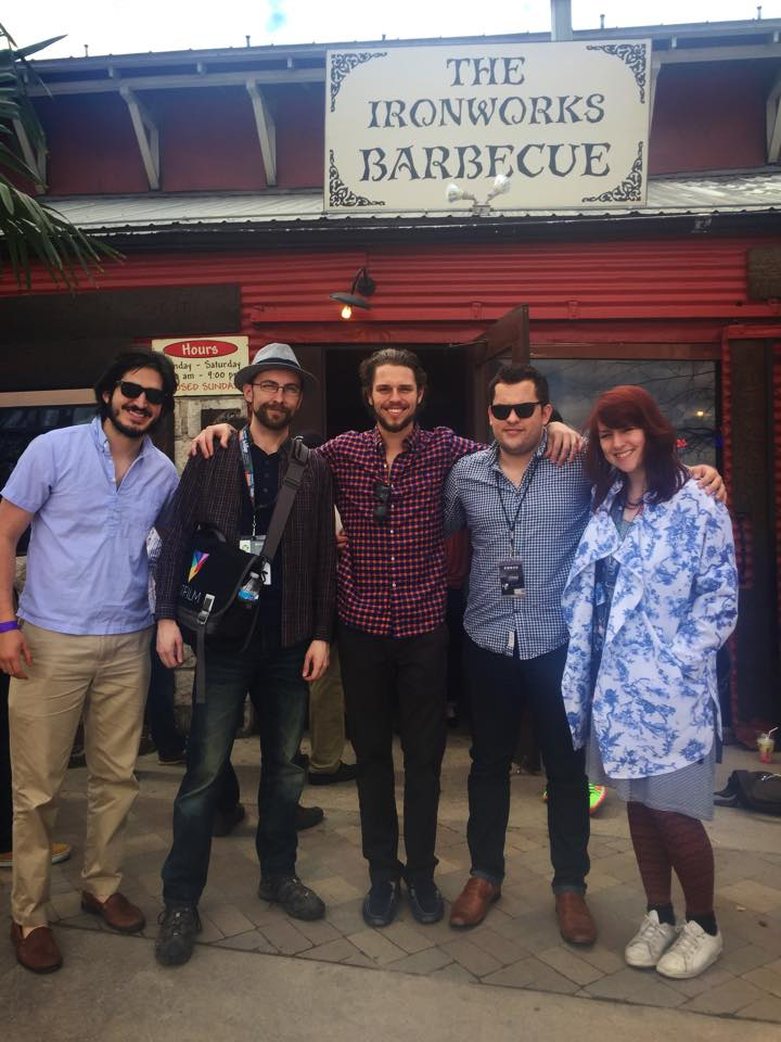 Simon and Kirstie (FXhome) at the Ironworks BBQ with the Atomic Productions team