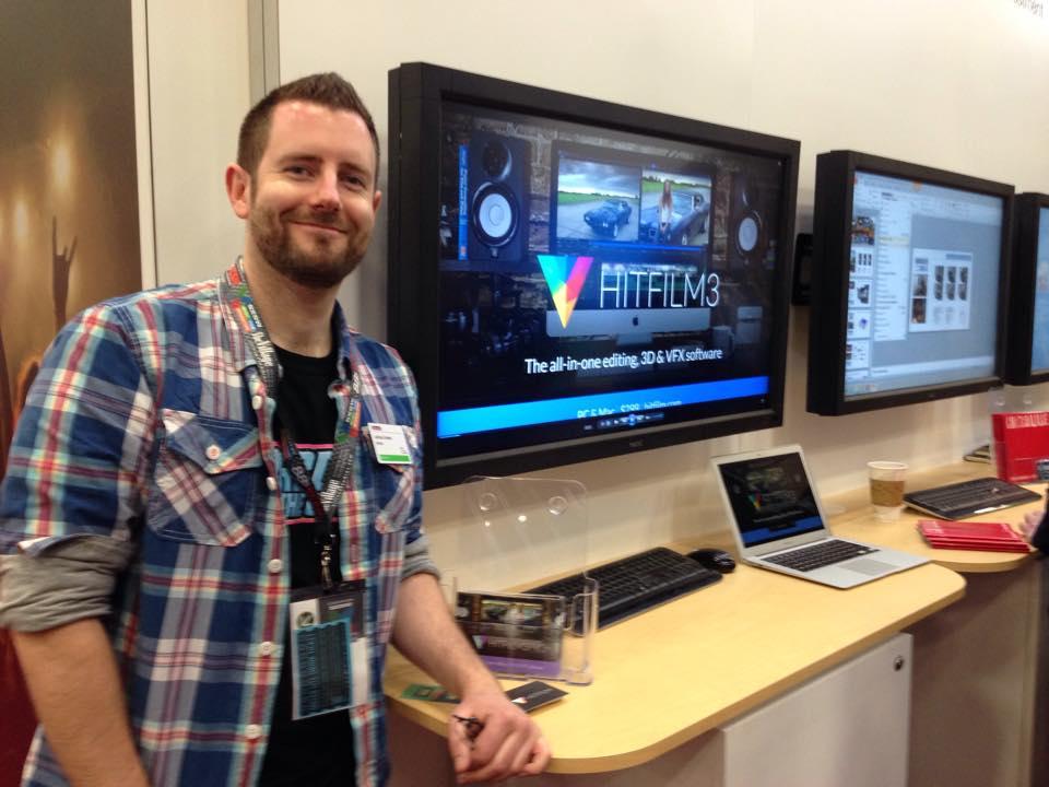 Josh Davies (FXhome CEO) presenting at the conference centre at SXSW