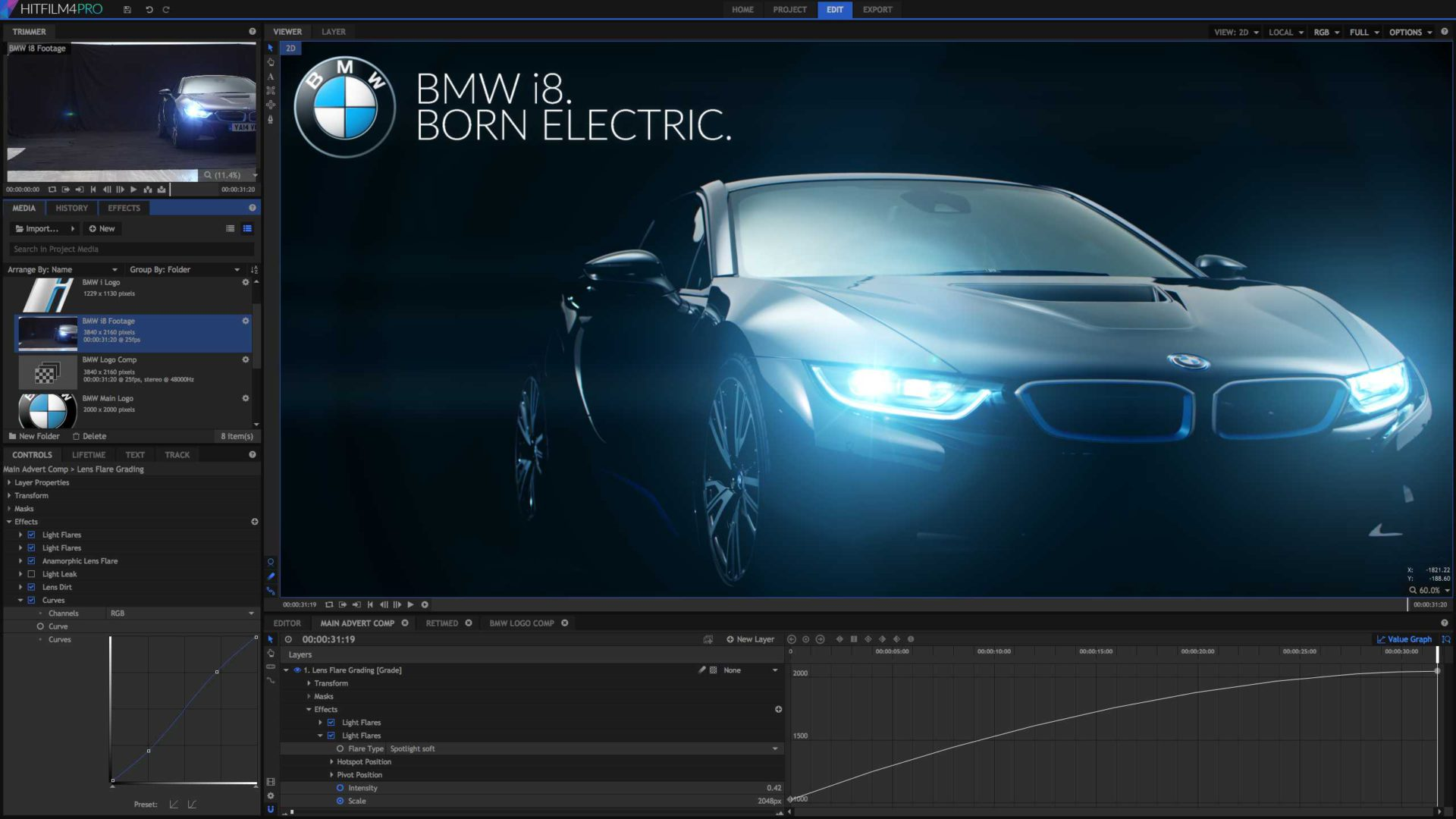 BMW effects in HitFilm Pro