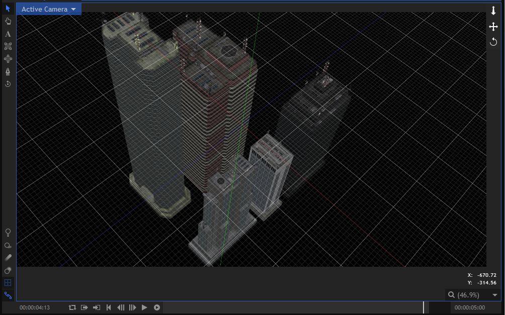 Dust City mesh on block layout