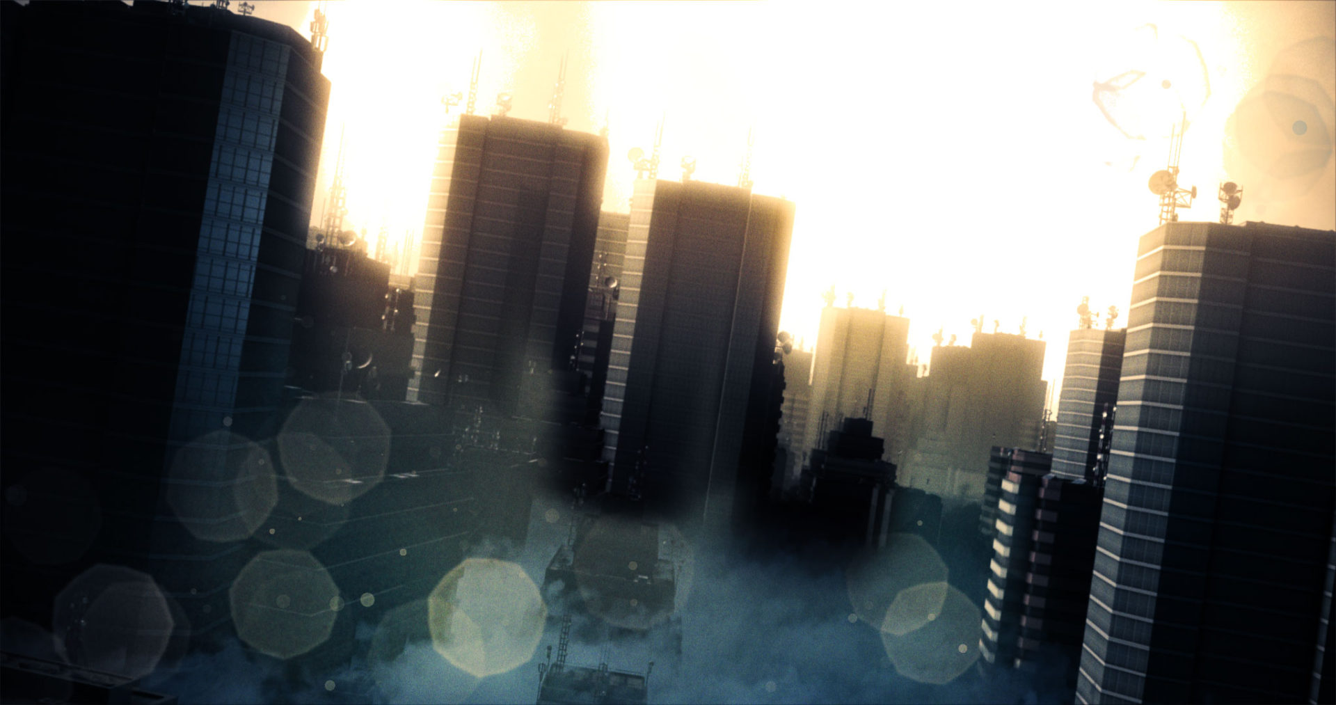 Dust City Particle Generated with Lens Flares
