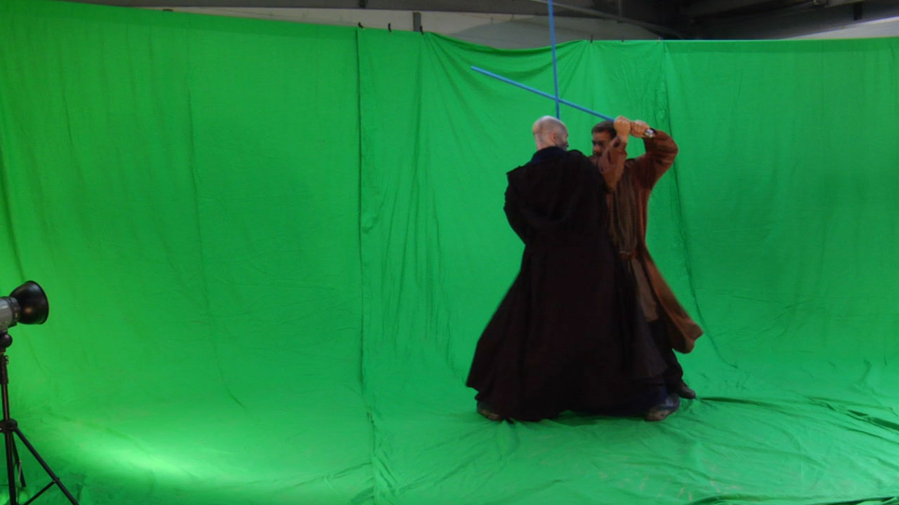 Green screen plate of old Star Wars project
