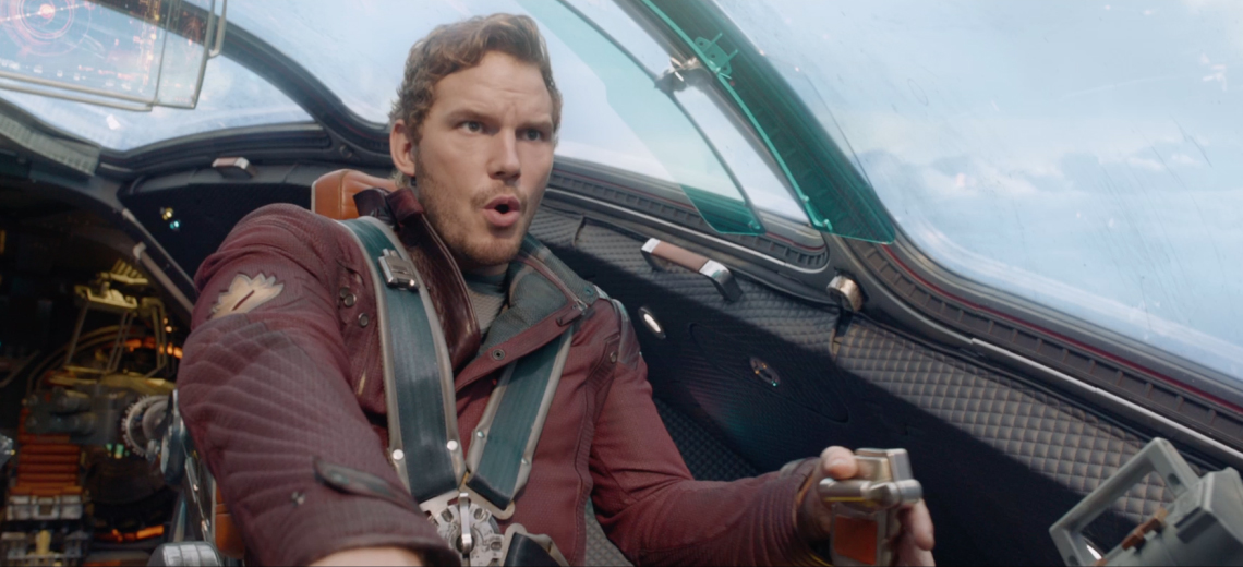 Guardians of the Galaxy - Star Lord flying a spaceship