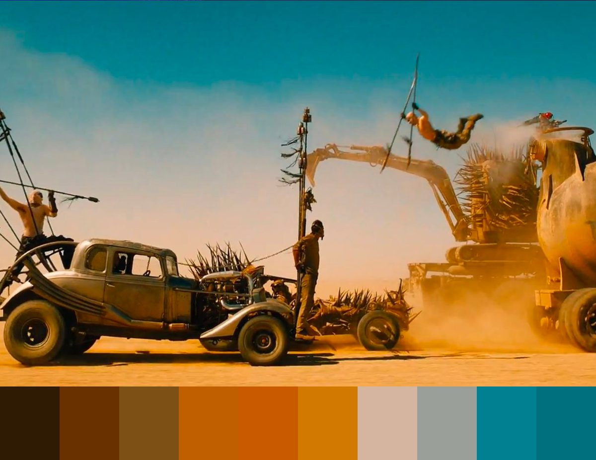 Color grading for beginners - using palettes for color grading - Mad Max: Fury Road