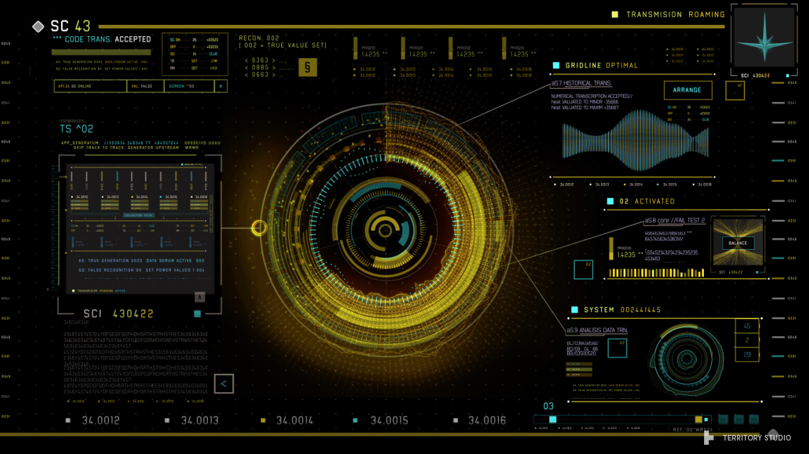 Guardians of the Galaxy UI design