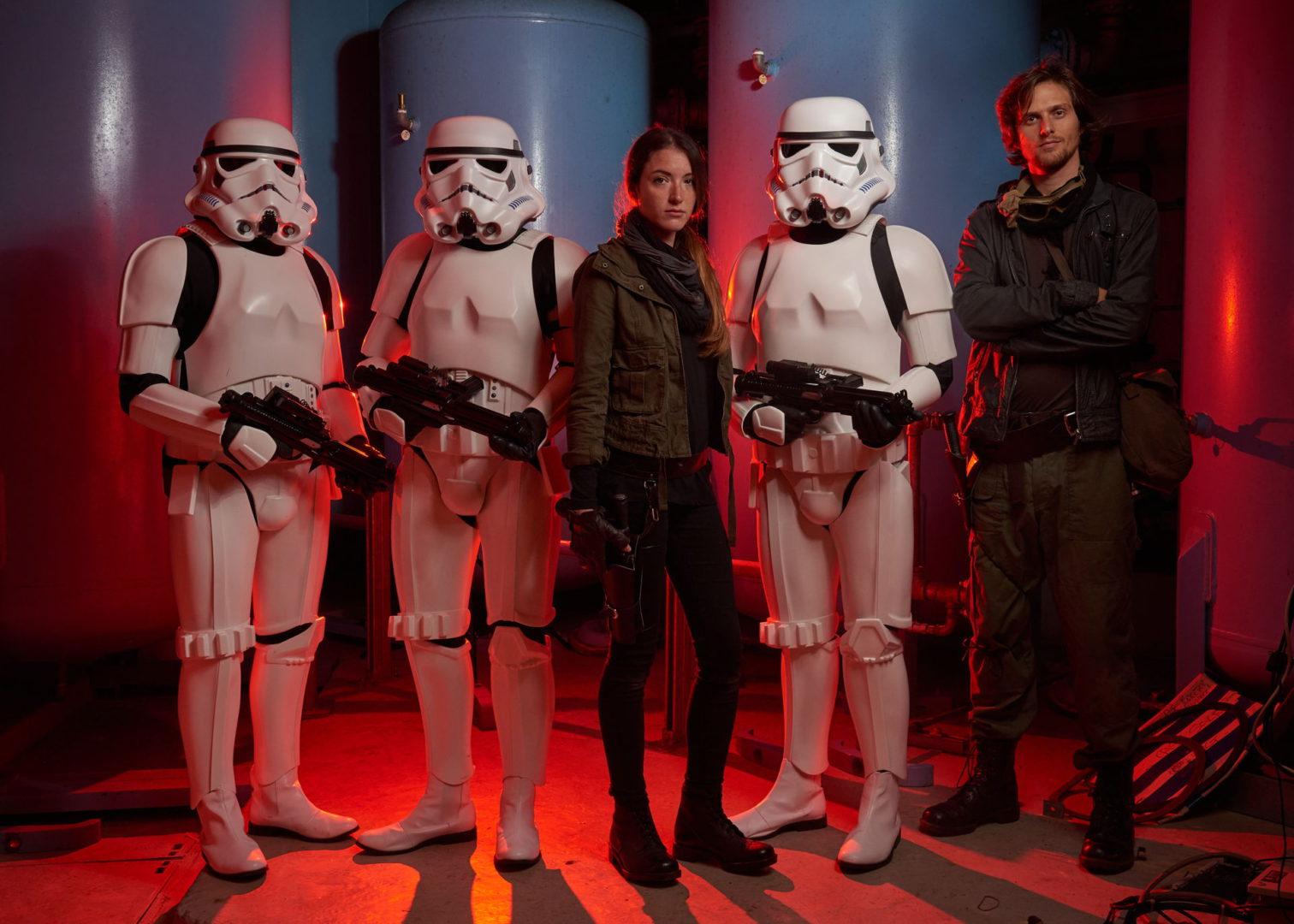 Rebellion cast on-set