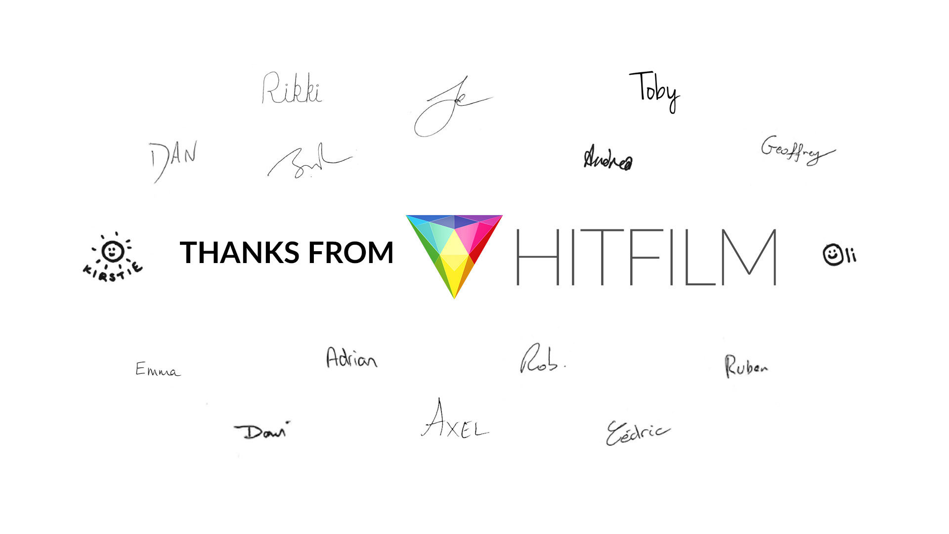 Thanks from the HitFilm team