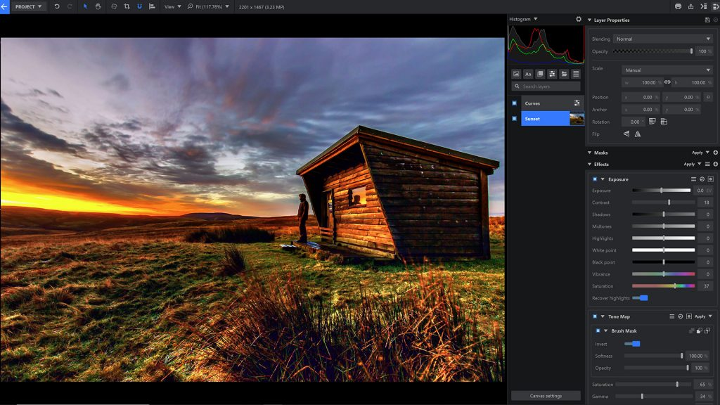 Imerge Pro interface - image compositing and photo editing software
