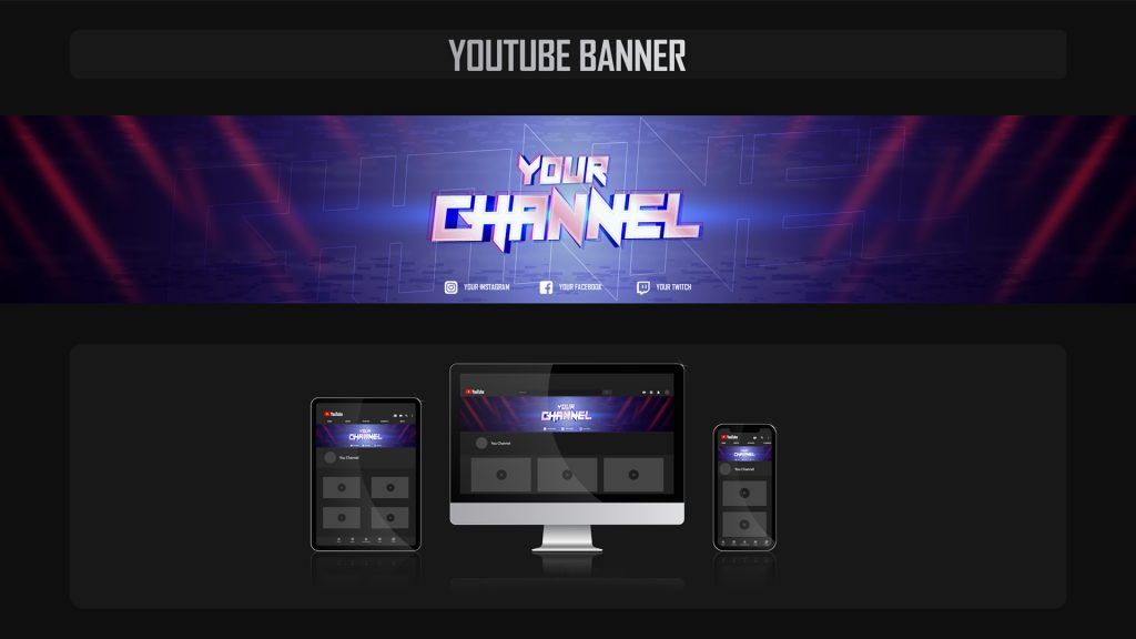 YouTube gaming channel banner design
