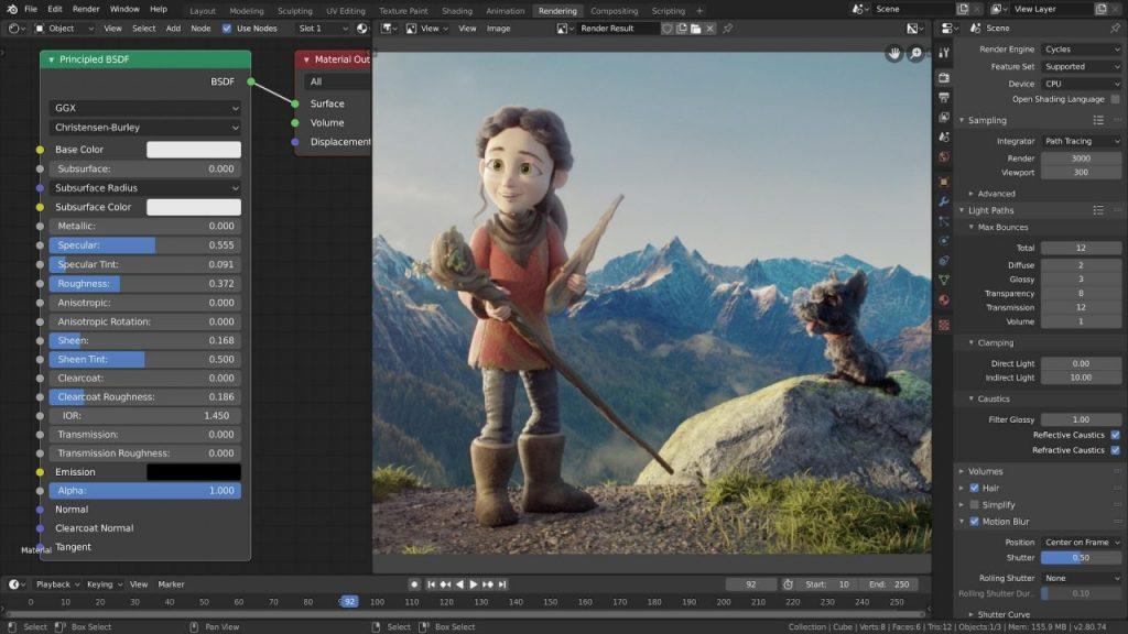 Blender editing software