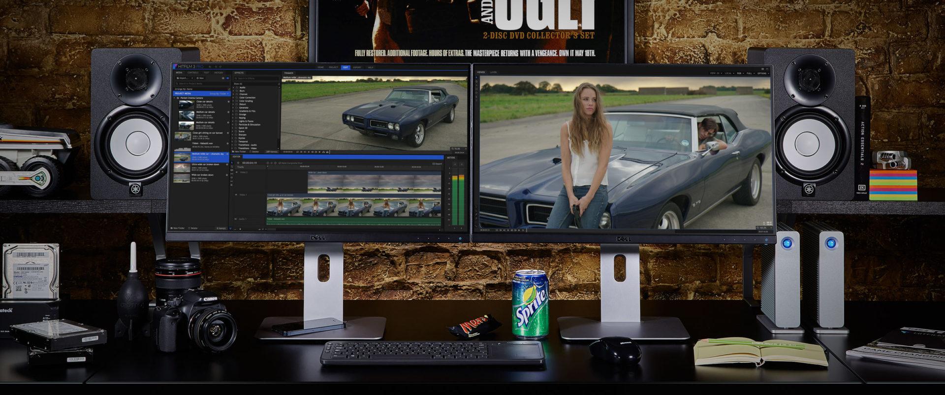 HitFilm Pro workspace