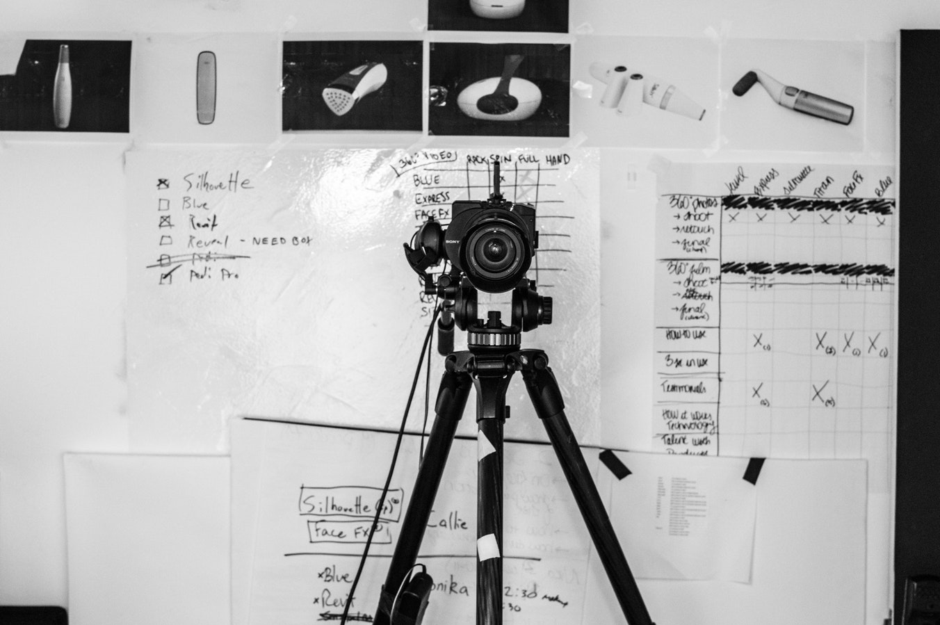 Pre-production and planning for a budget film