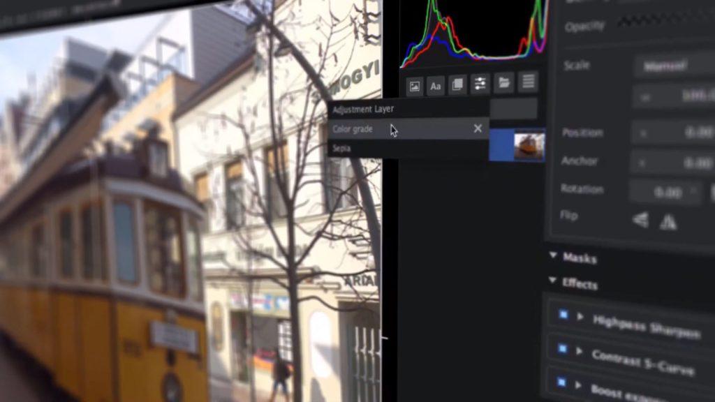 Imerge Pro interface - layer presets