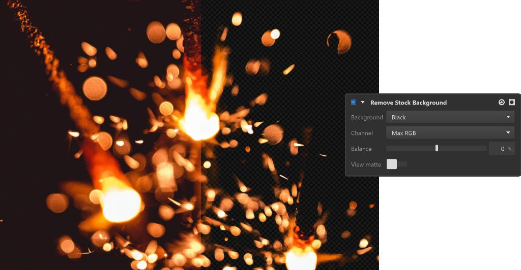 Remove Stock Background effect in Imerge Pro 3 release