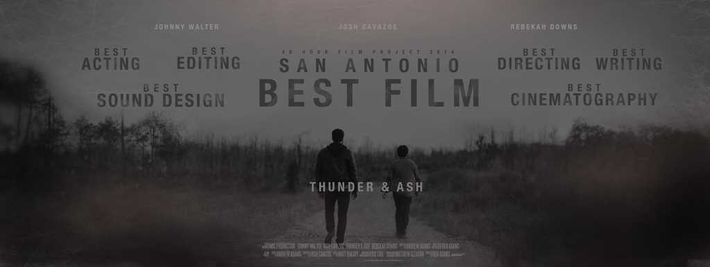Atomic Productions - Thunder & Ash wide poster - best film San Antonio 48 hour film contest
