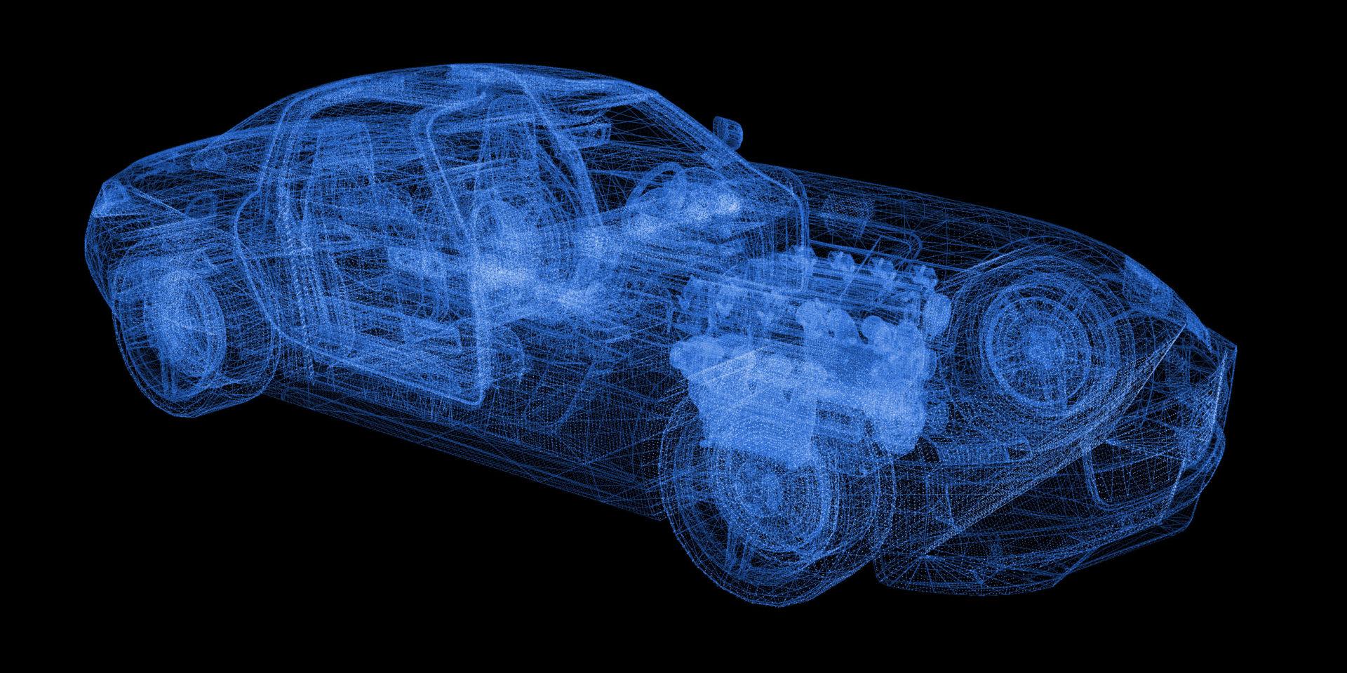 Sports Car 3D wireframe