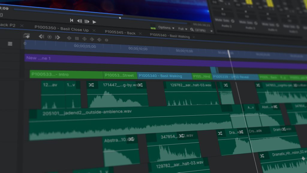 video editing timeline in HitFilm Pro