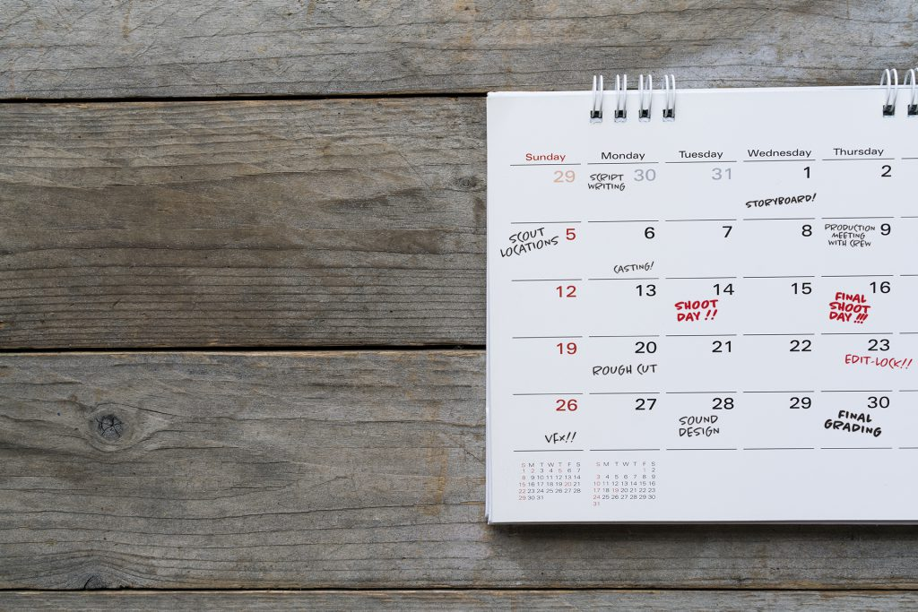 The 3 stages of film production - pre production (planning your production schedule)