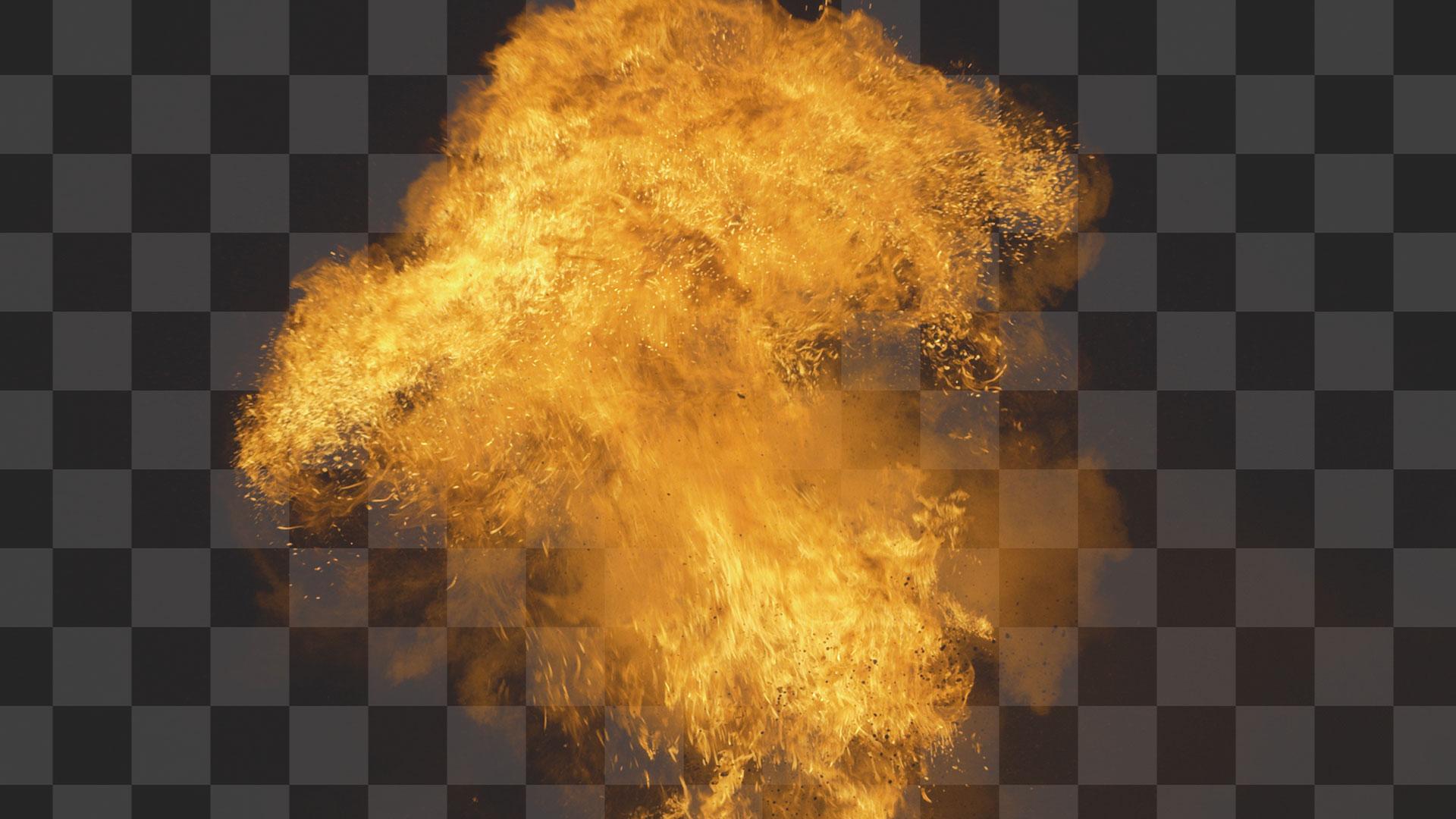 Chroma Key explosion - after (transparent background)