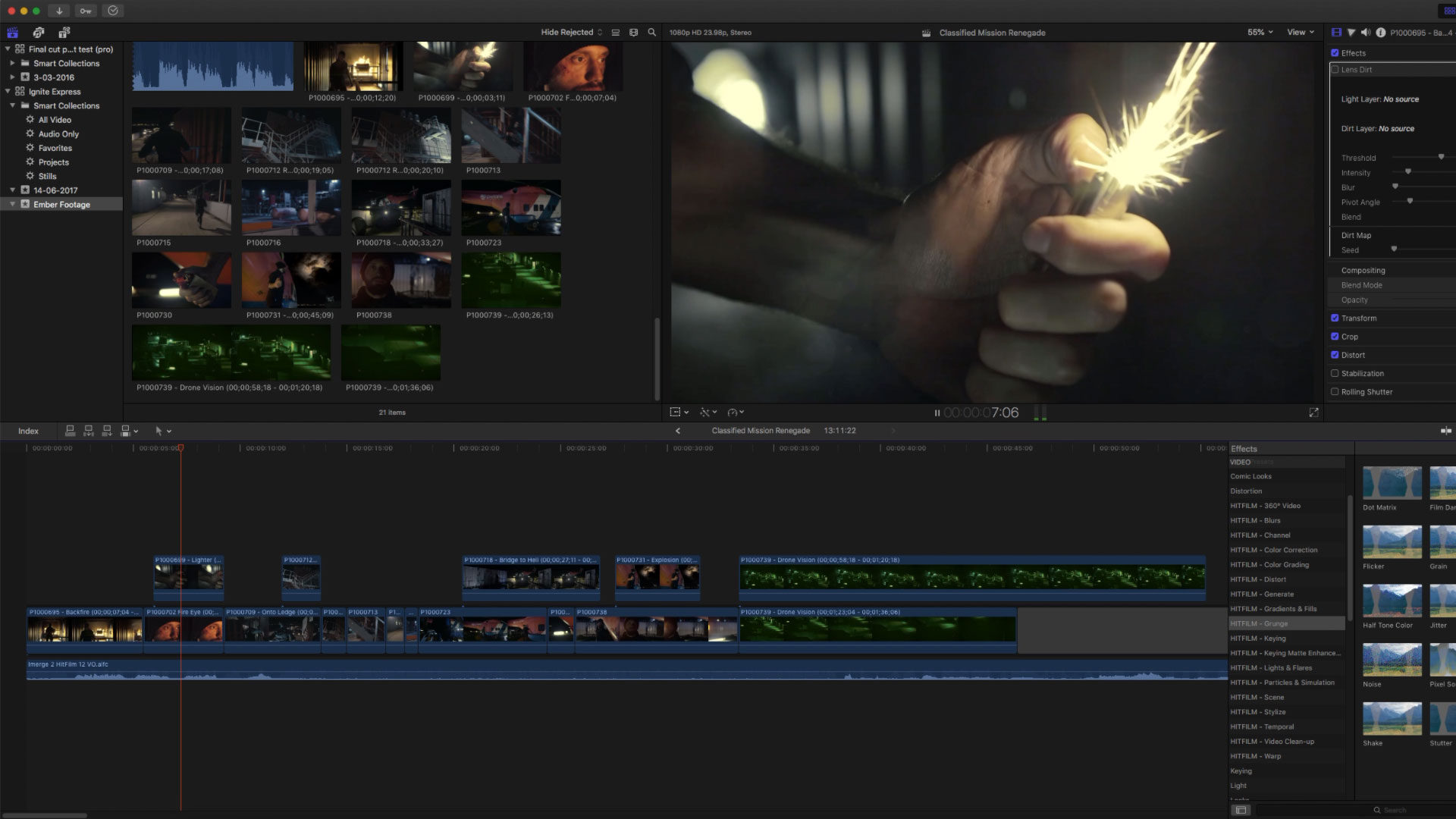 Ignite Pro in FCPX - VFX plugins for After Effects, VEGAS