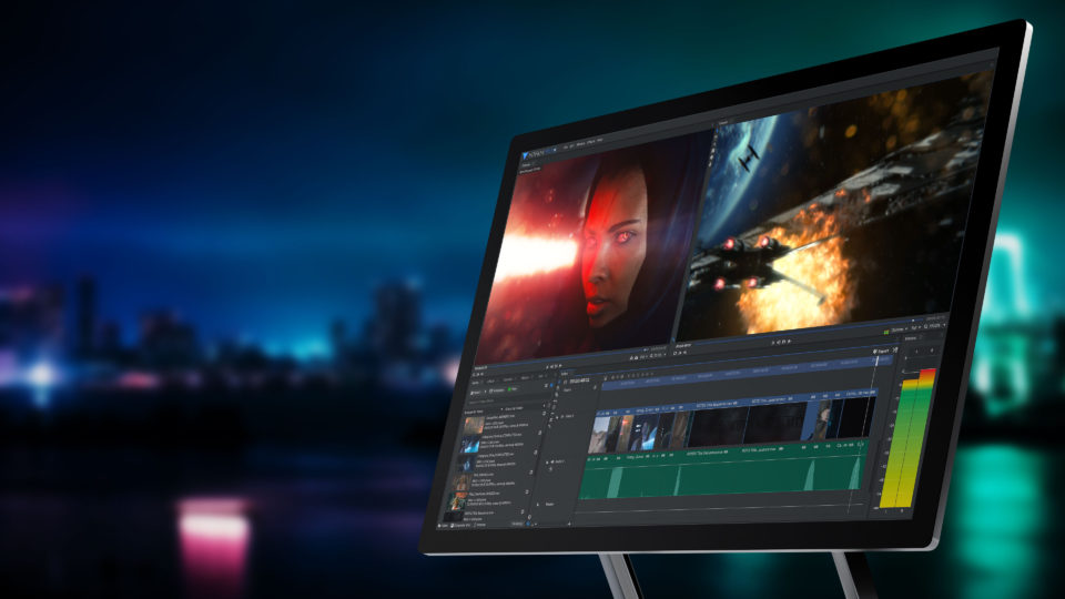 The best VFX software for beginners - HitFilm Pro interface on Mac