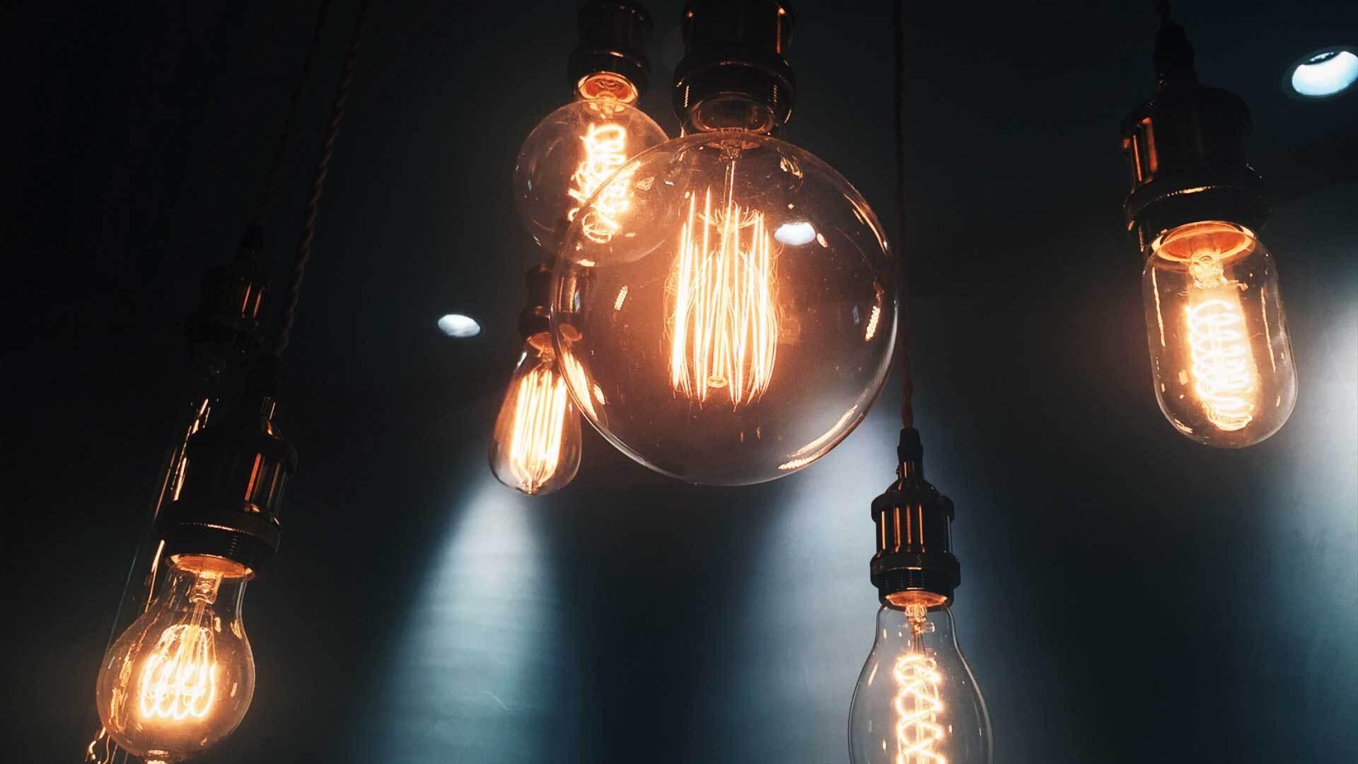 Lightbulbs before effect