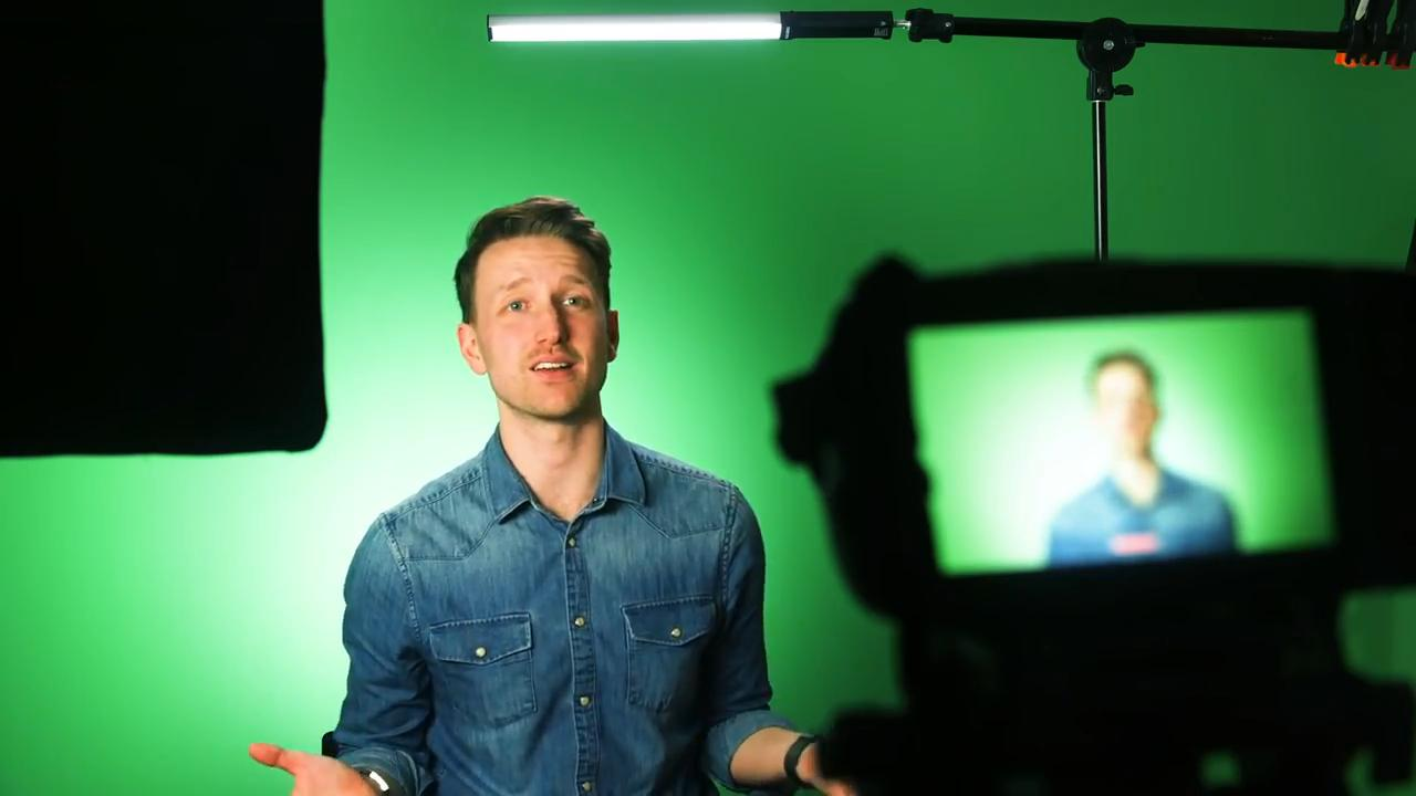How to make a DIY green screen using matte paint as an alternative