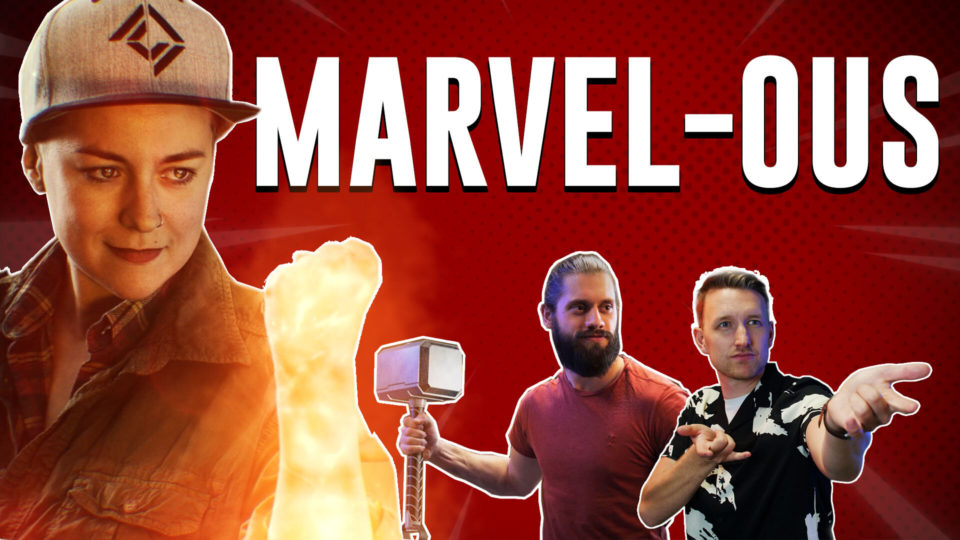 Marvel-ous VFX masterclass thumbnail, Captain Marvel energy effect, Thor's hammer, Spider-Man web effect