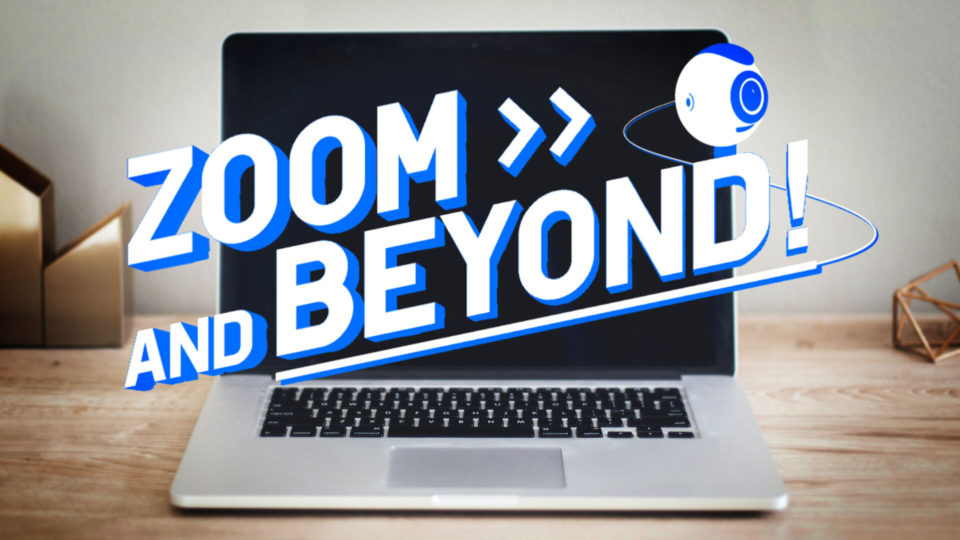 Zoom and Beyond video editing masterclass thumbnail - Laptop with 'Zoom and Beyond' title