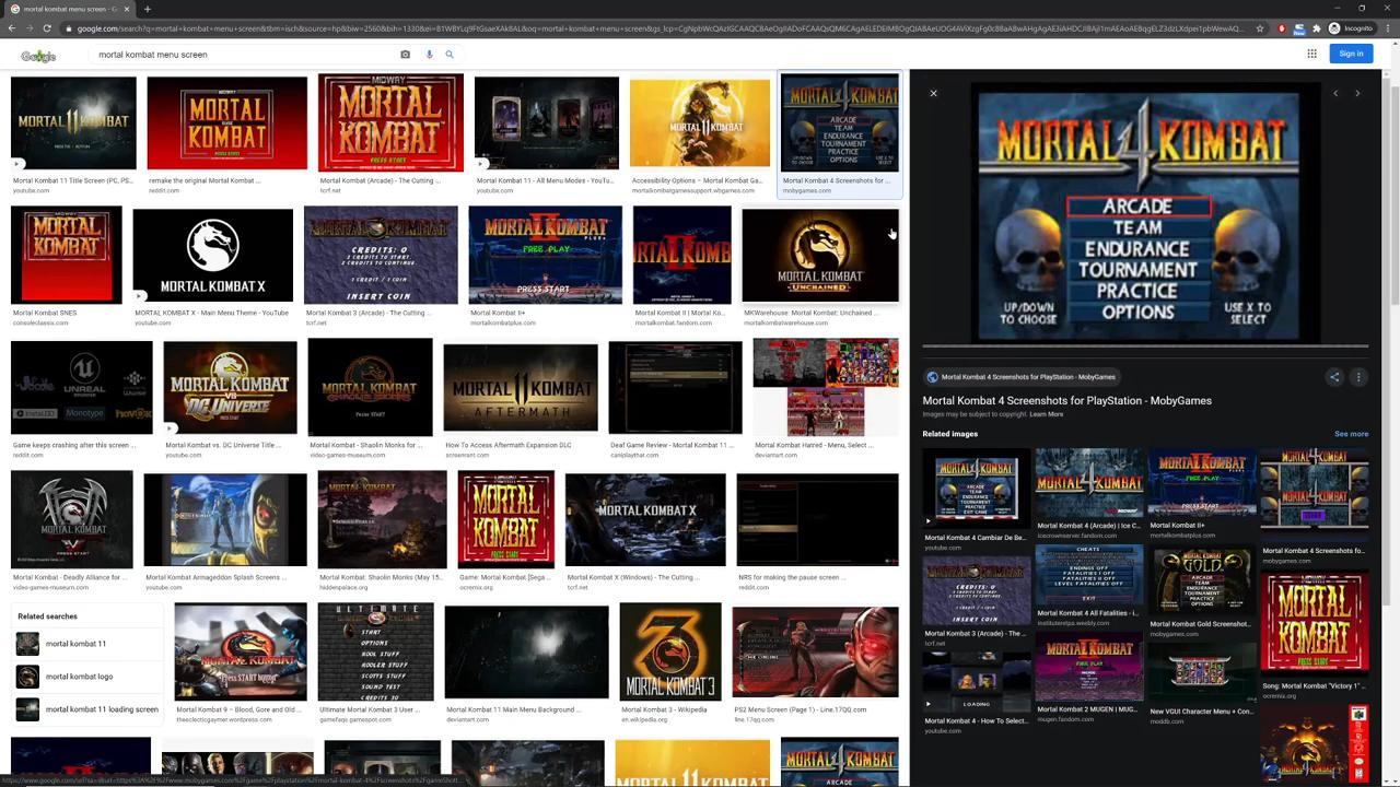 How to create Mortal Kombat-style retro graphics - looking at good references