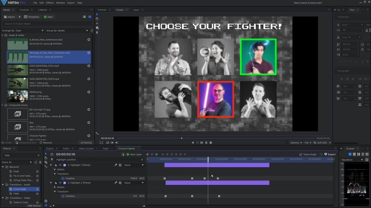 How to create Mortal Kombat-style retro graphics - emulating Mortal Kombat character selection