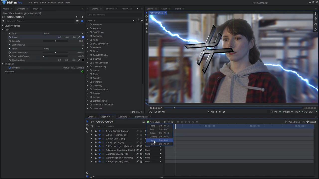How to create the Justice League's Flashtime effect - Adding a 3D model to the scene