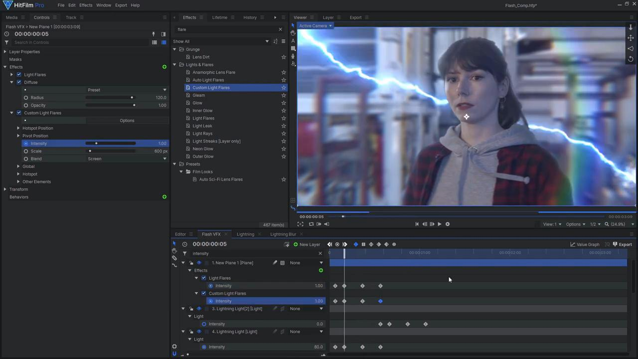 How to create the Justice League's Flashtime effect - adding light flares and sparks
