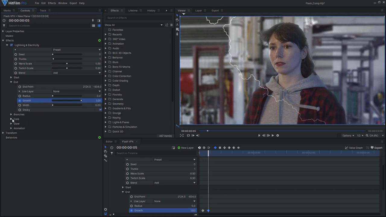 How to create the Justice League's Flashtime effect - adding lightning to the footage