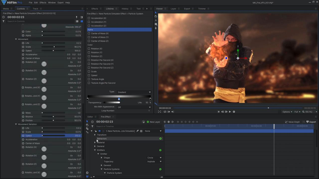 How to create Mortal Kombat's Scorpion fireball effects - giving the particles a fiery texture