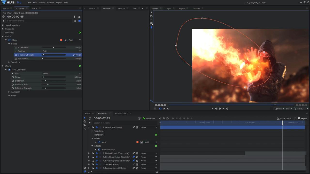 How to create Mortal Kombat's Scorpion fireball effects - masking around stock footage