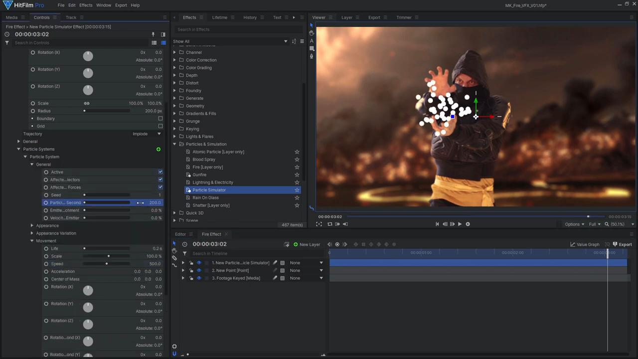 How to create Mortal Kombat's Scorpion fireball effects - setting up particle system